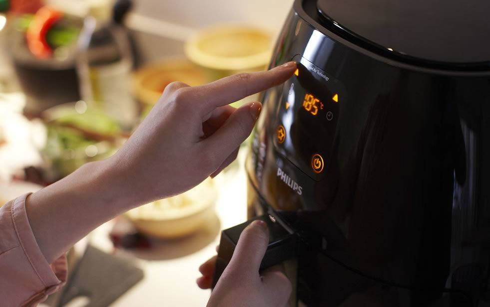 Air fryer bediening